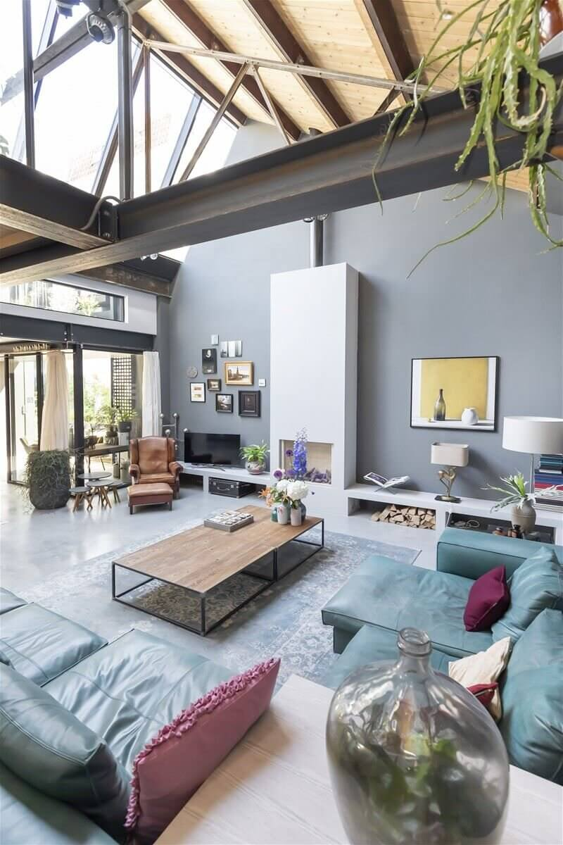 A Modern Industrial Loft in a Converted Amsterdam Factory
