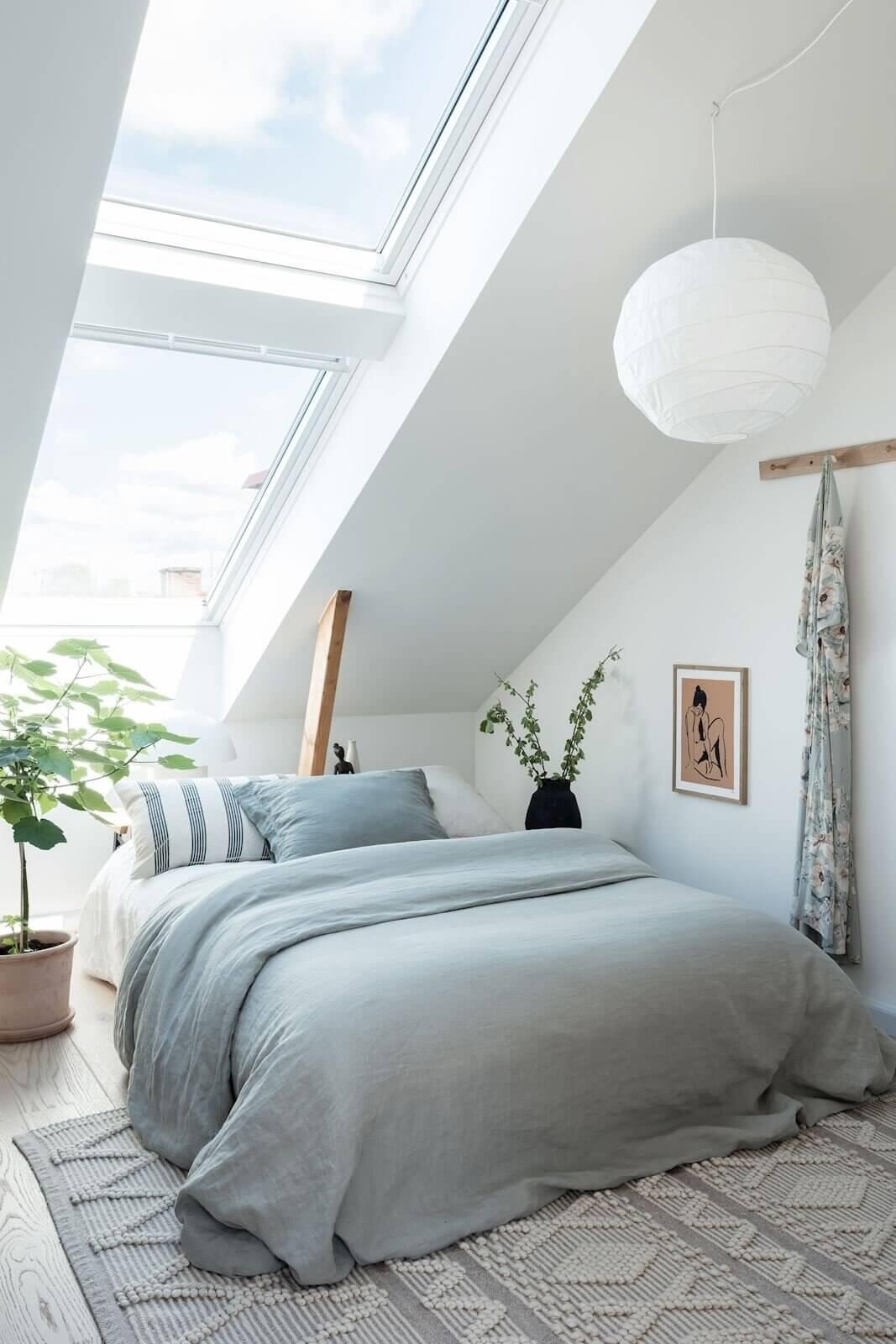 A Scandinavian Attic Apartment with Plenty of Natural Light