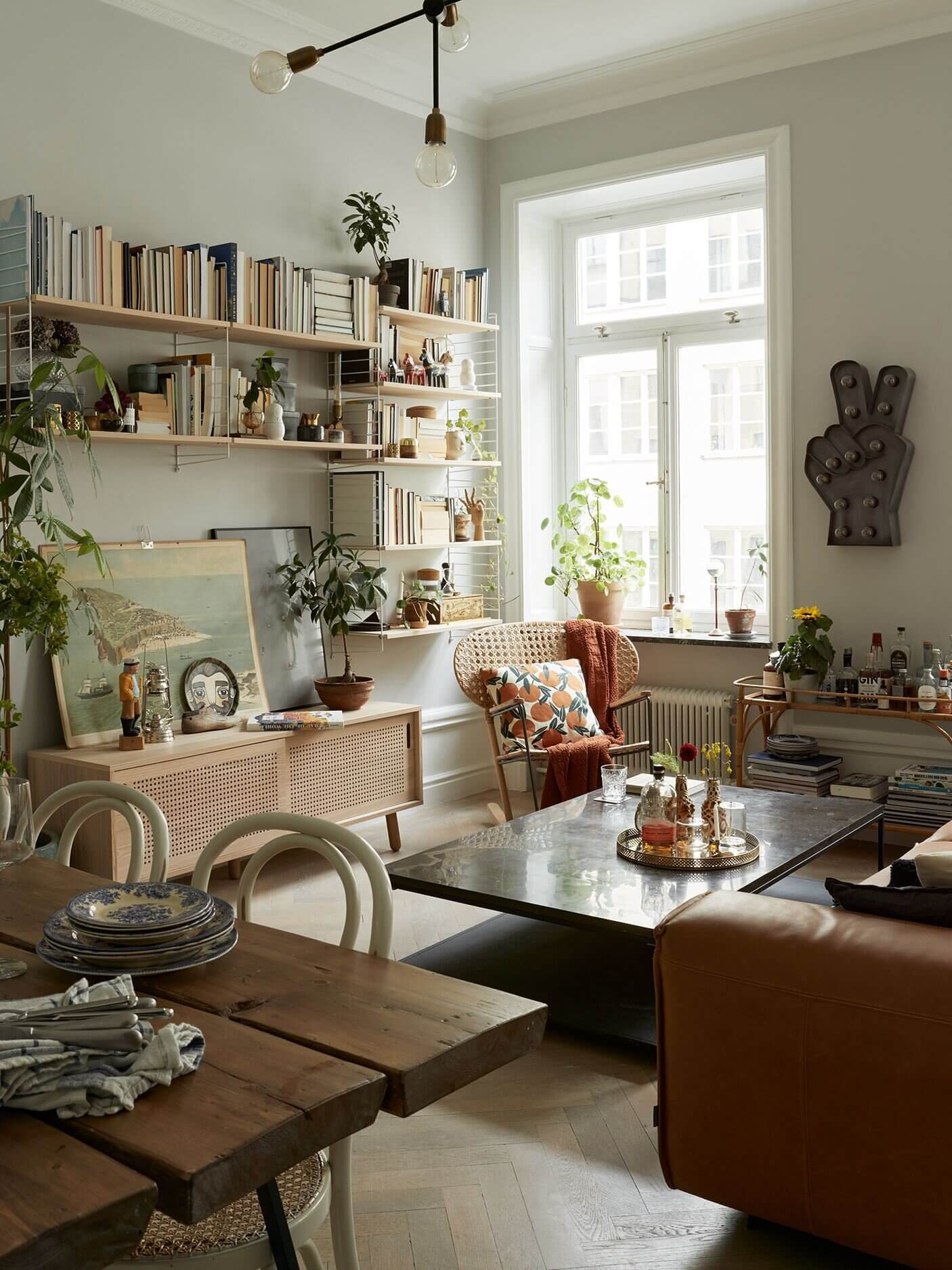 A Light Scandinavian Apartment with Vintage Touches