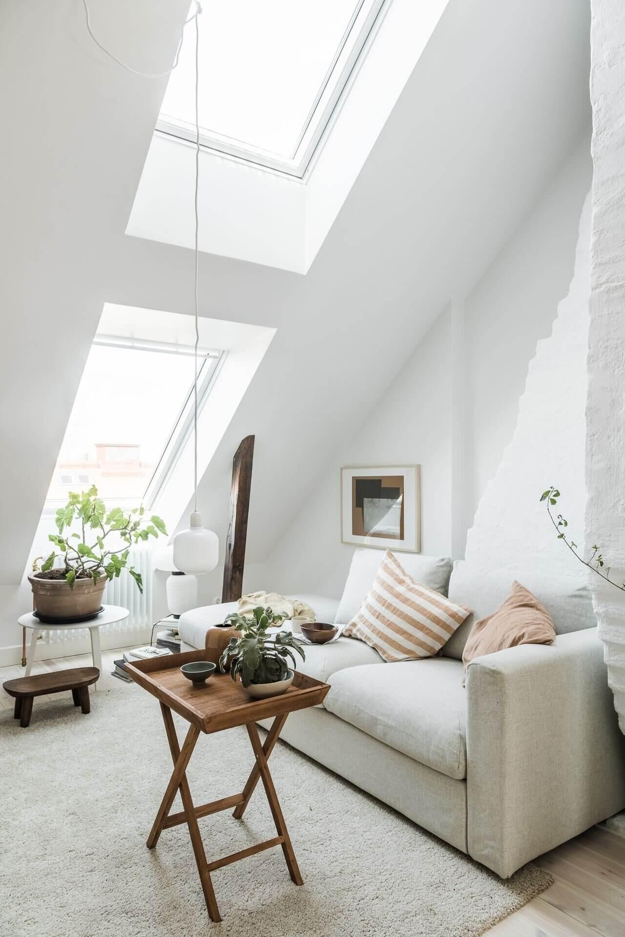 A Bright Scandinavian Attic Studio Apartment