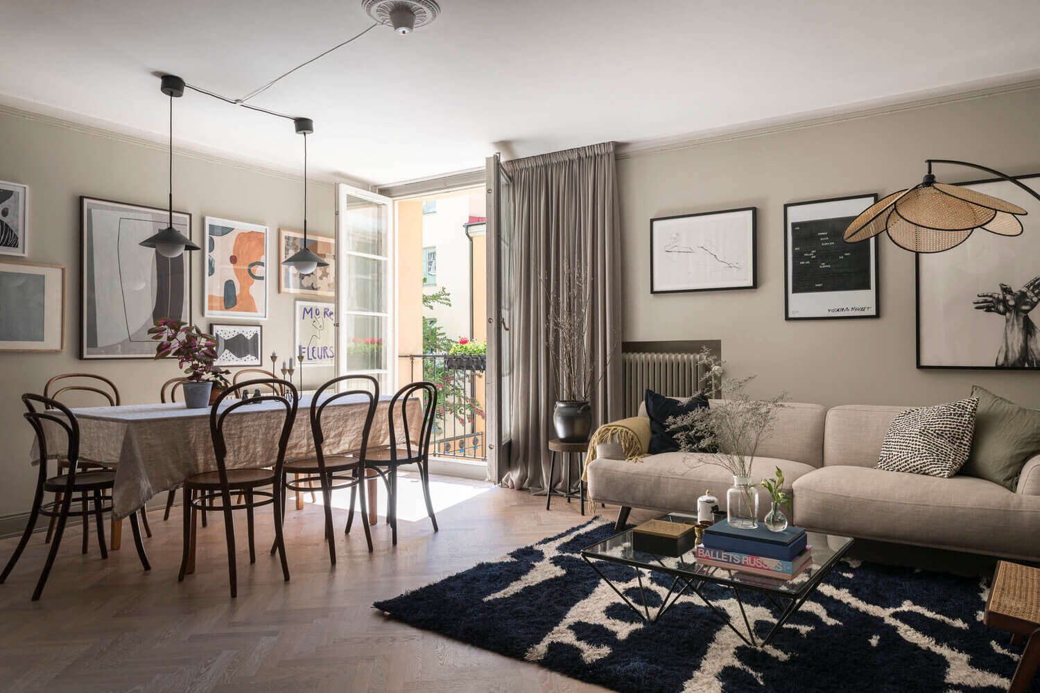A Classic Greige Apartment in Stockholm