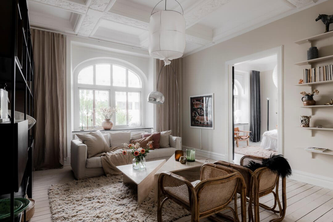 Neutral Color Tones in a Luxurious Swedish Apartment