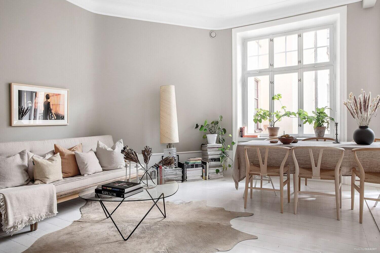 A Serene Light Grey & White Stockholm Apartment