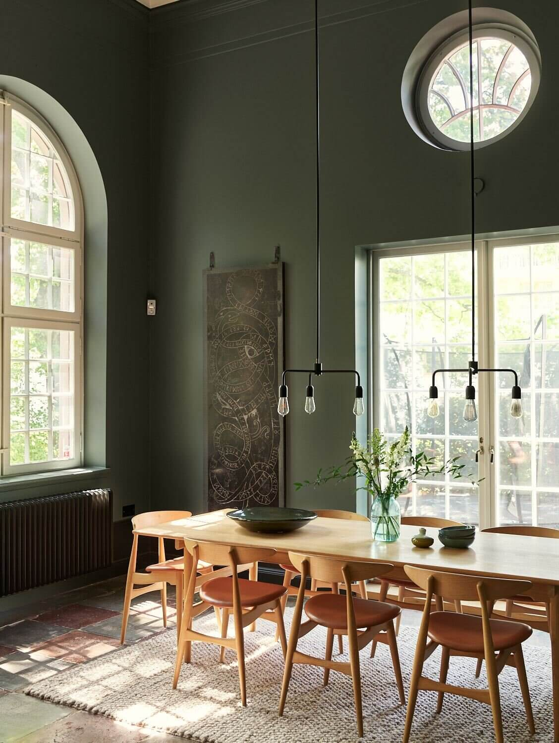 A Modern Green Home in an Early 20th-Century Chapel