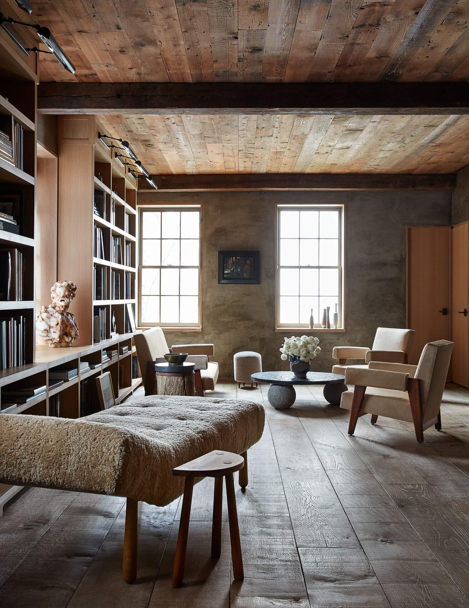 Ryan Murphy's Warm Wooden Home in New York City