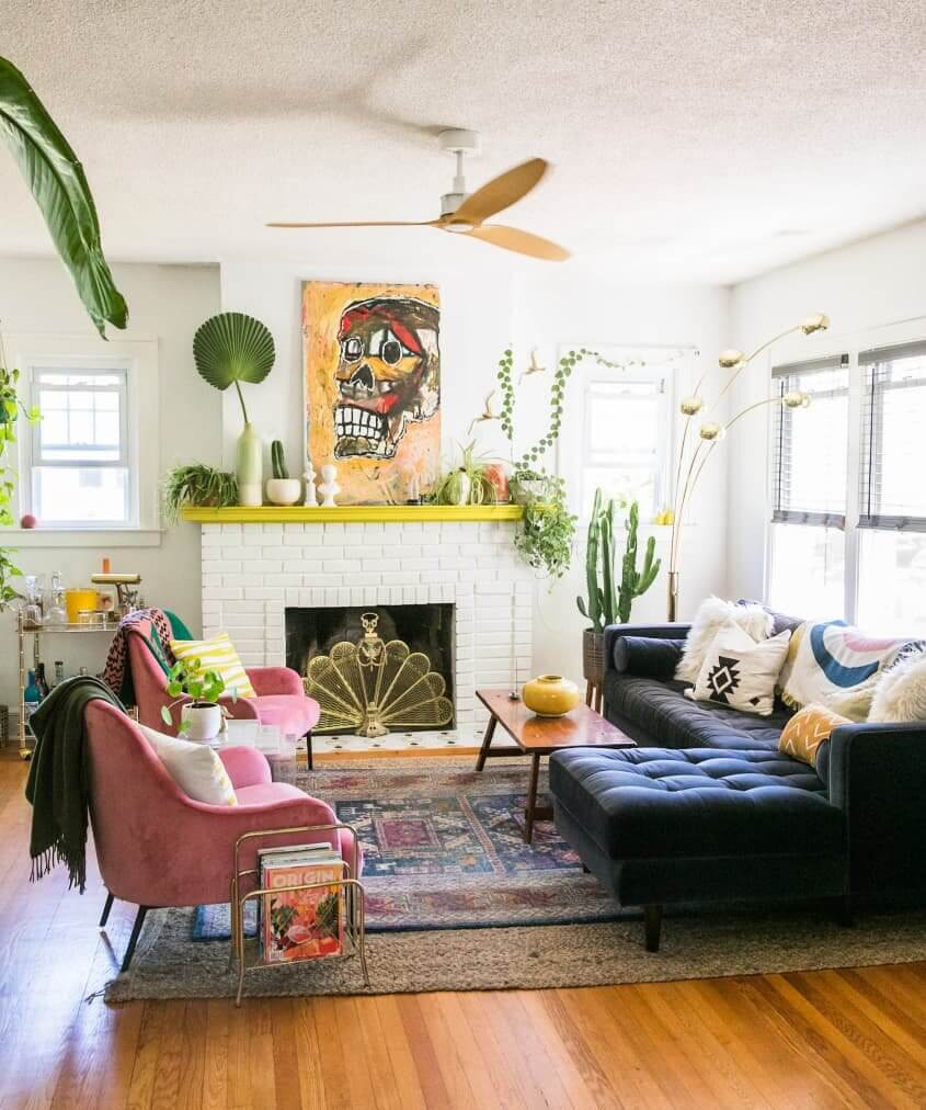 A Colorful Bohemian Craftsman Bungalow in New Haven