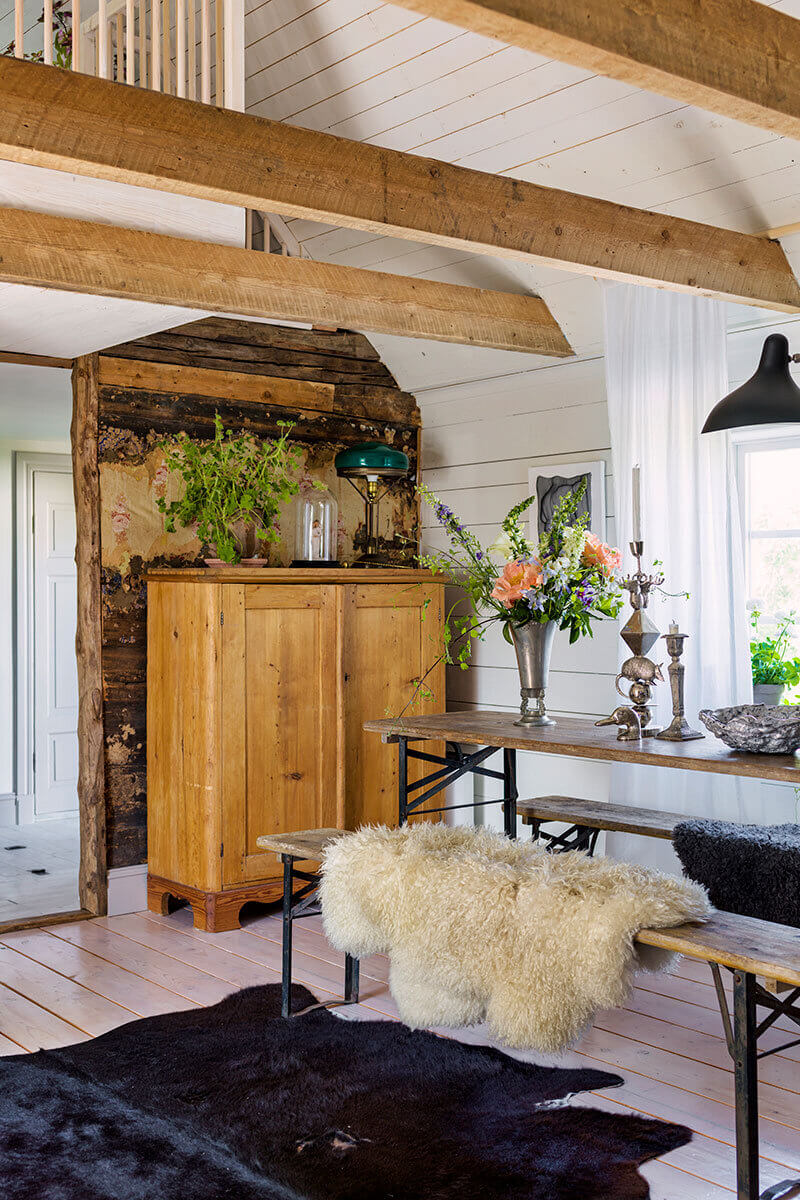 Blue Tones and Wood in a Swedish Summer House