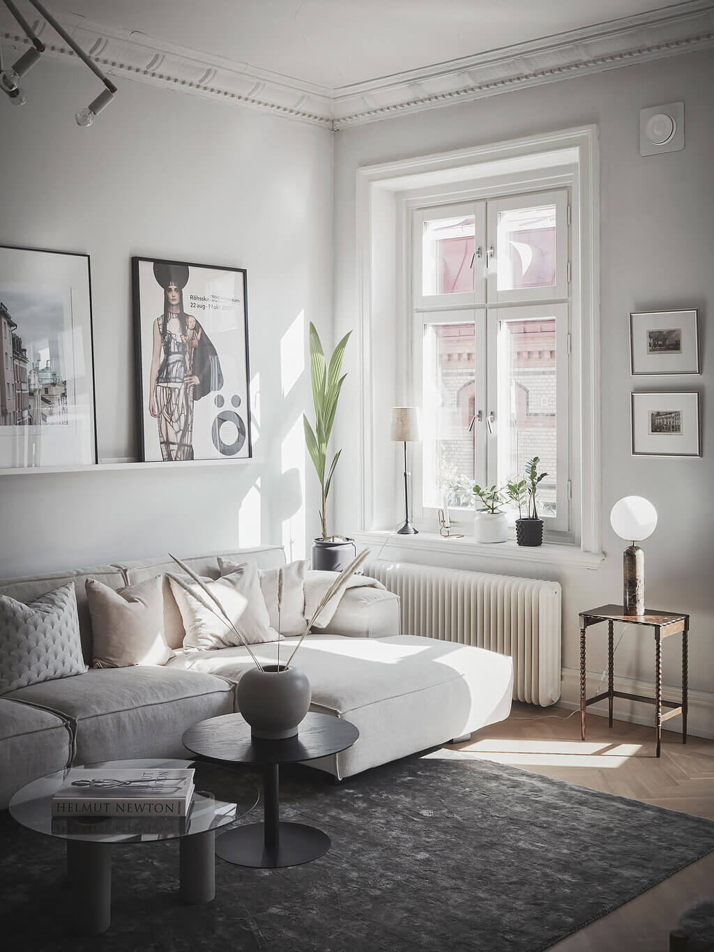 A Light Classic Scandinavian Apartment with Period Details