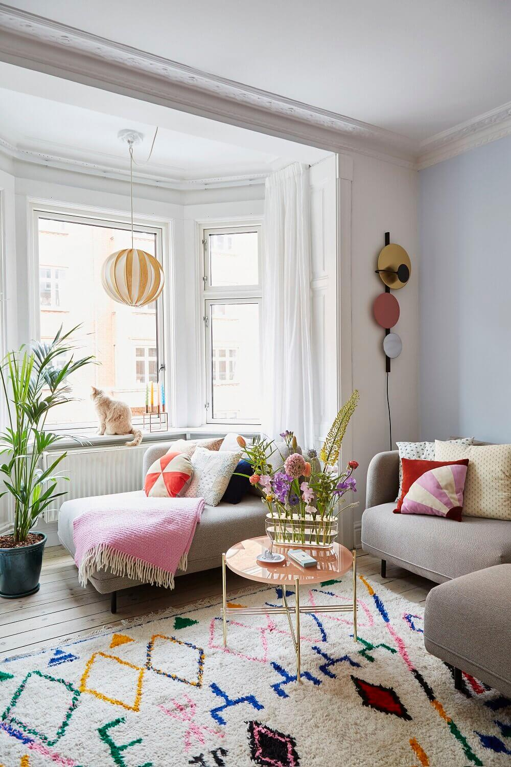 Colorful Touches in a Creative Copenhagen Apartment