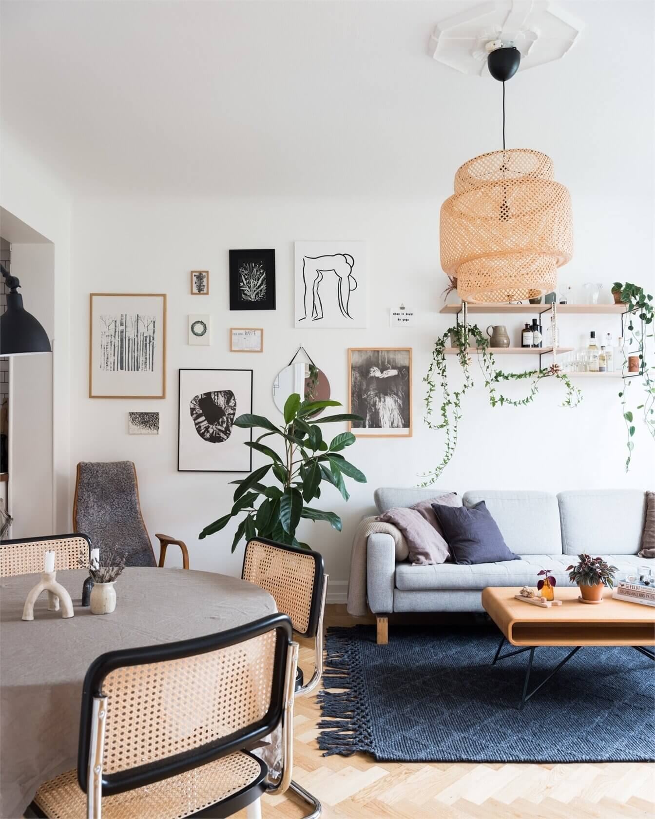 A Lovely Grey and Pink Scandinavian Apartment