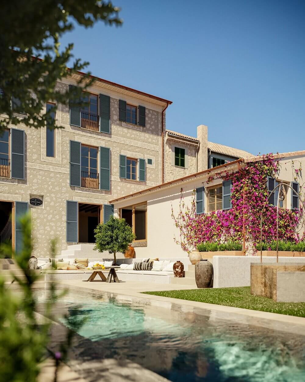 A Luxurious Townhouse With An Orchard Garden on Mallorca