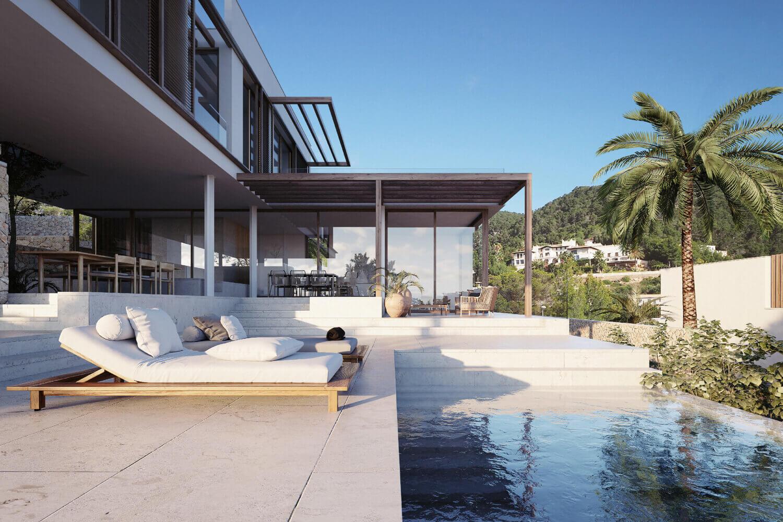 A Luxurious Villa With Stunning Views Over Mallorca