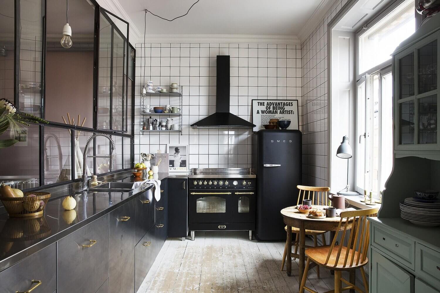 A Cool and Creative Art-Filled Apartment in Stockholm