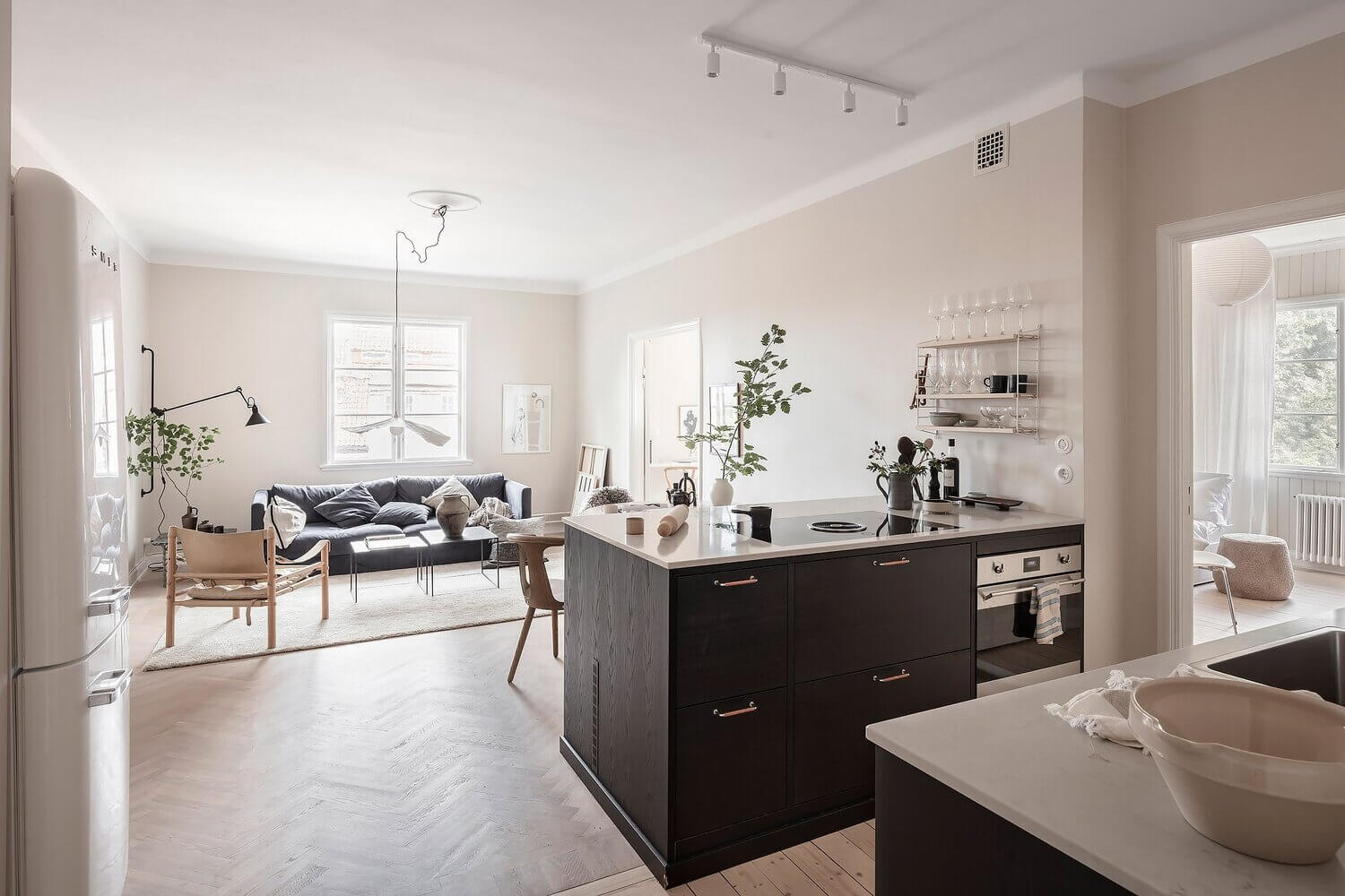 A Serene Scandi Apartment Painted In A Lovely Beige Hue