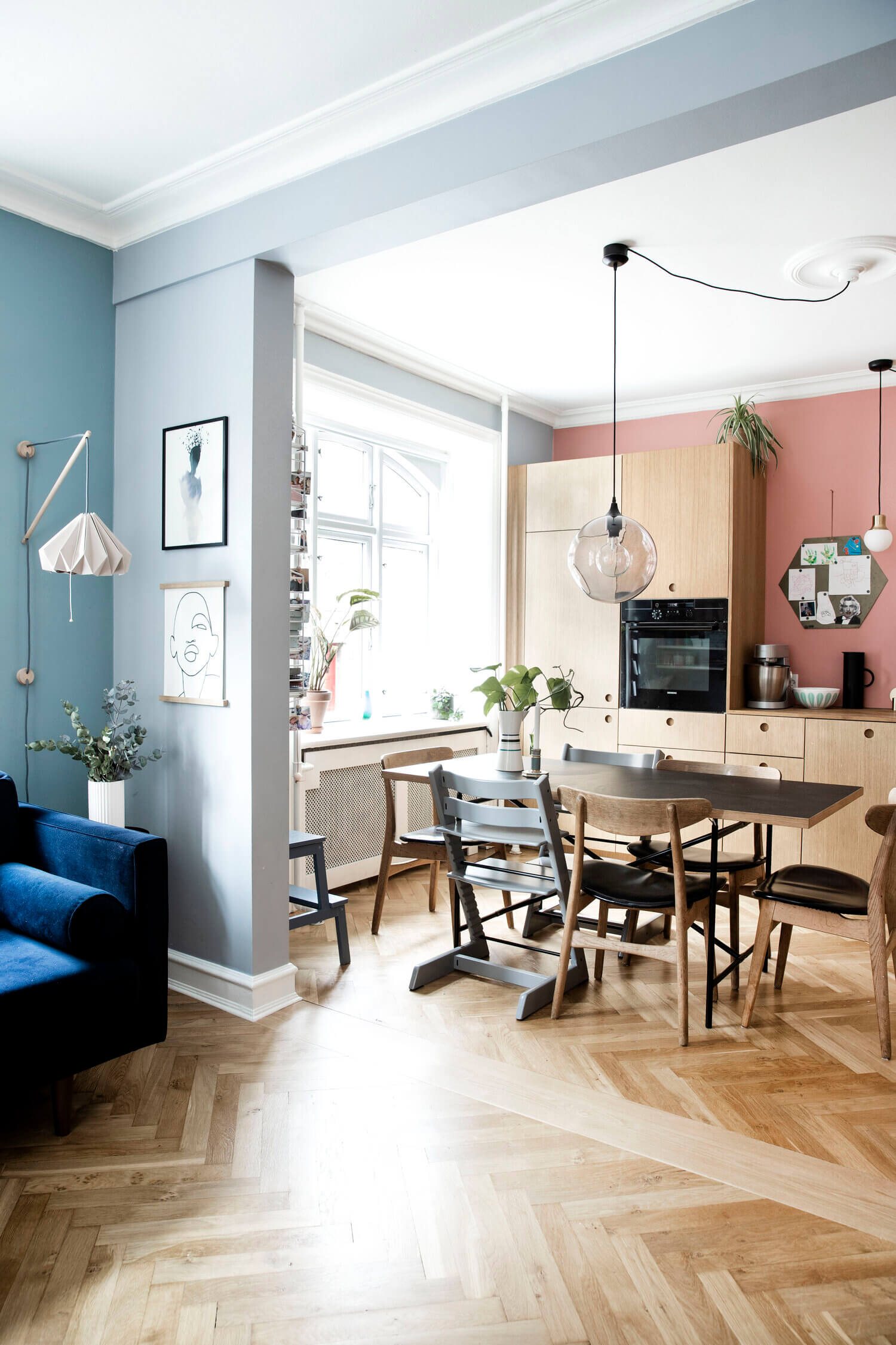 A Creative and Colorful Family Apartment in Copenhagen