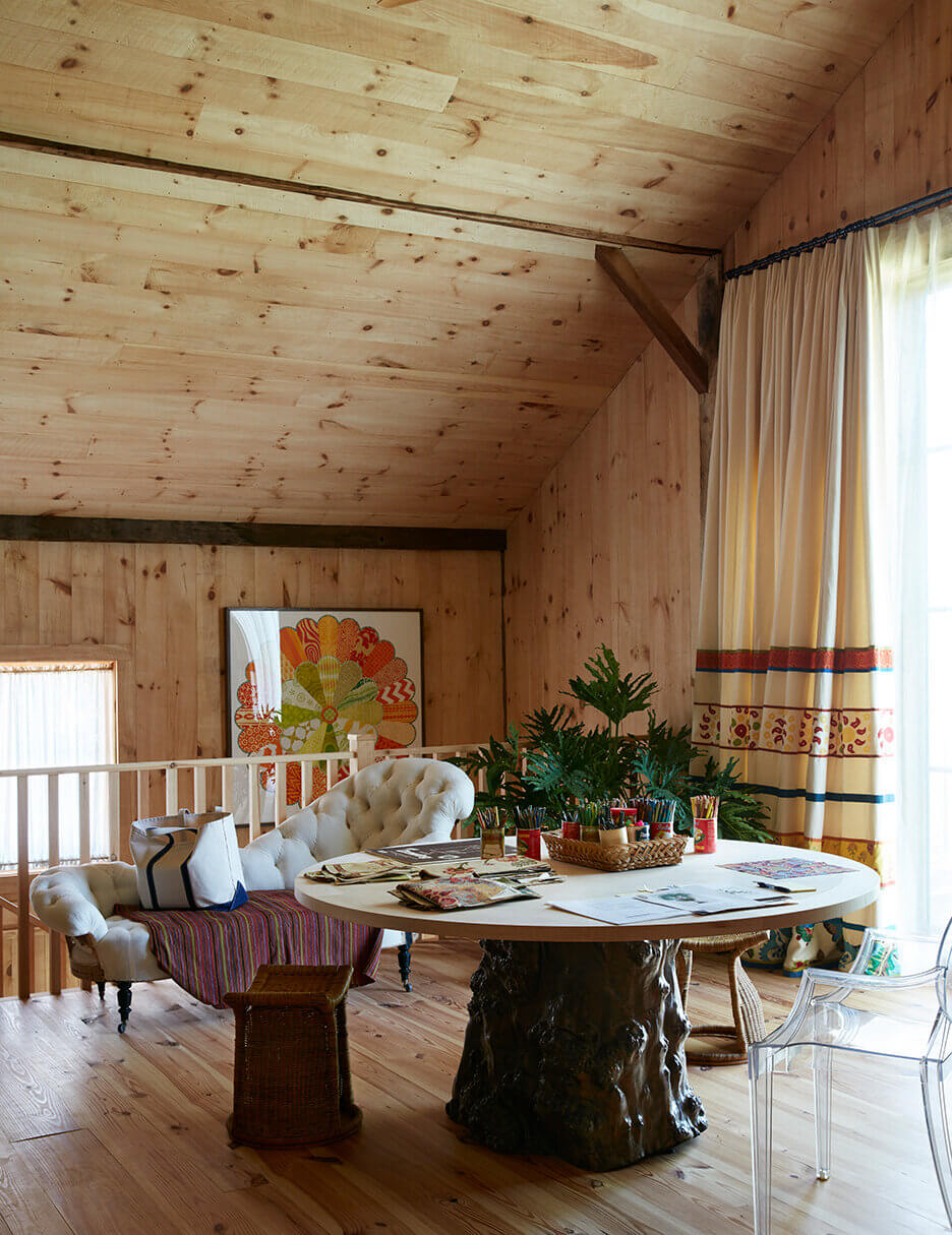 Wood and Color in a Designer's Converted Carriage House