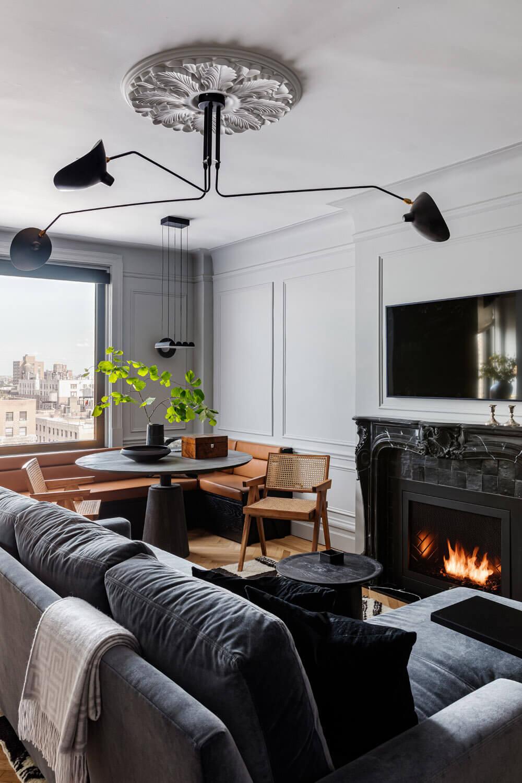 A Monochrome New York Apartment with Parisian Vibe
