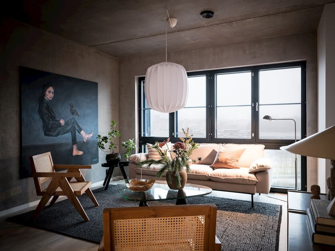 Industrial and Scandinavian Design in a Beautiful Apartment