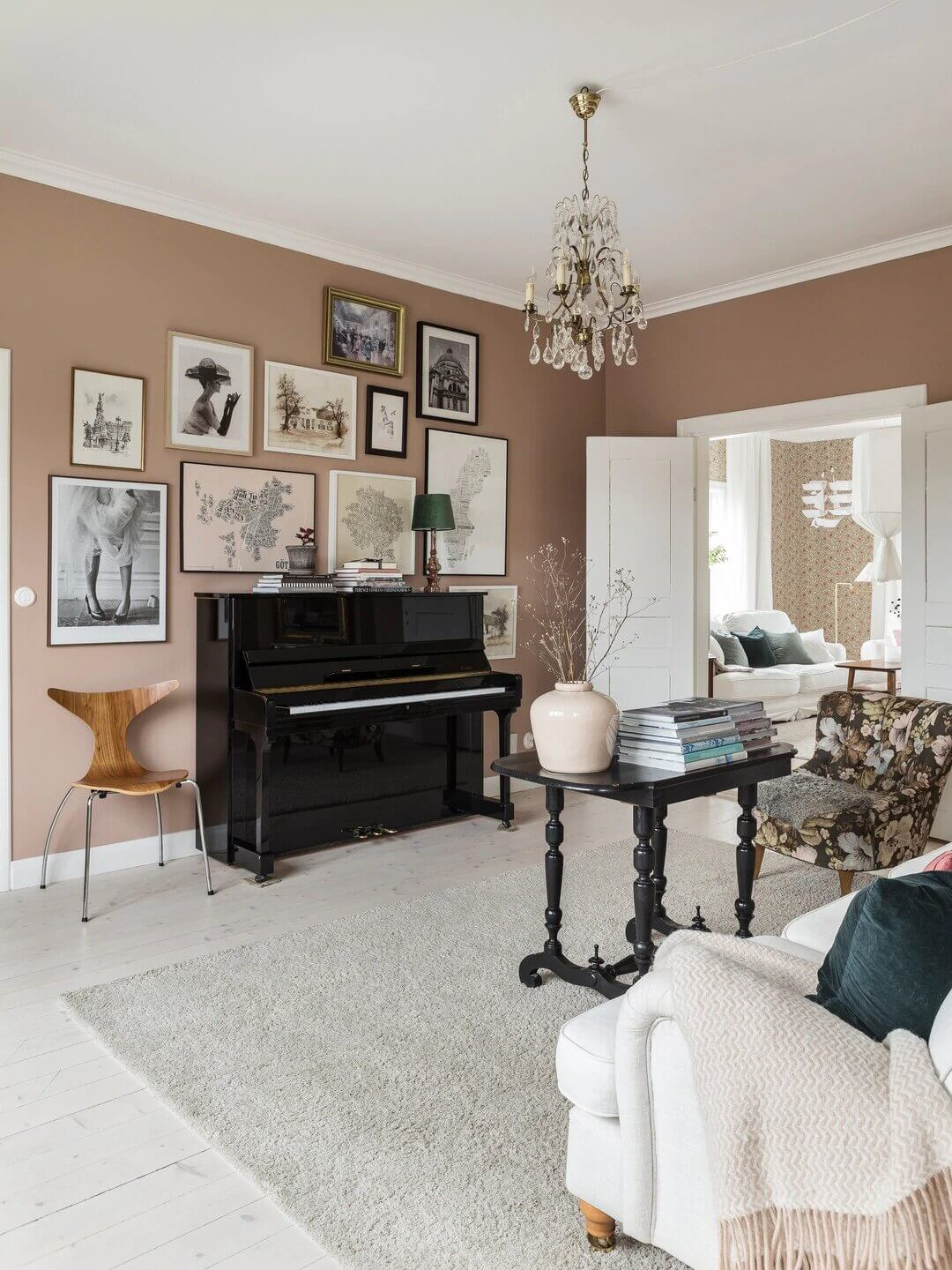 A Swedish Country House Decorated in Soft Pastel Tones