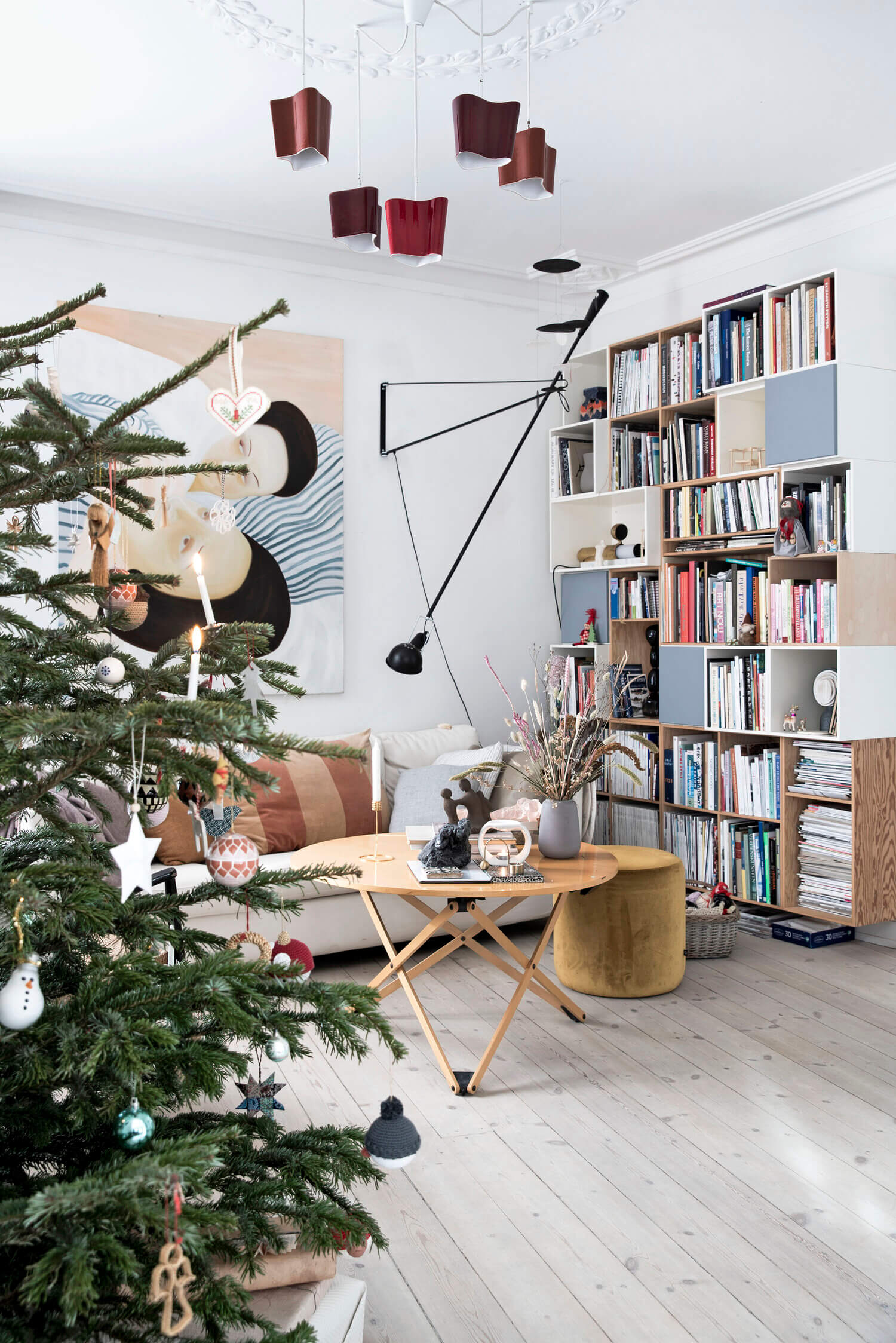 An Art-Filled Danish Home Decorated For Christmas