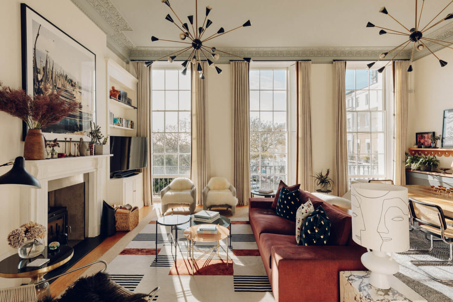 An Eclectic Apartment in a Historic Townhouse in Brighton