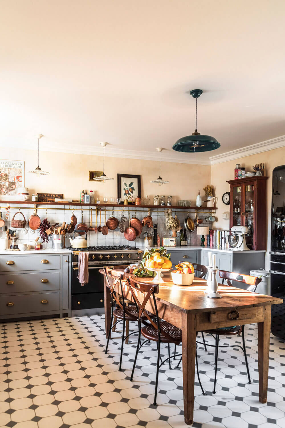 A Cozy Cluttered French-Style Kitchen by deVOL