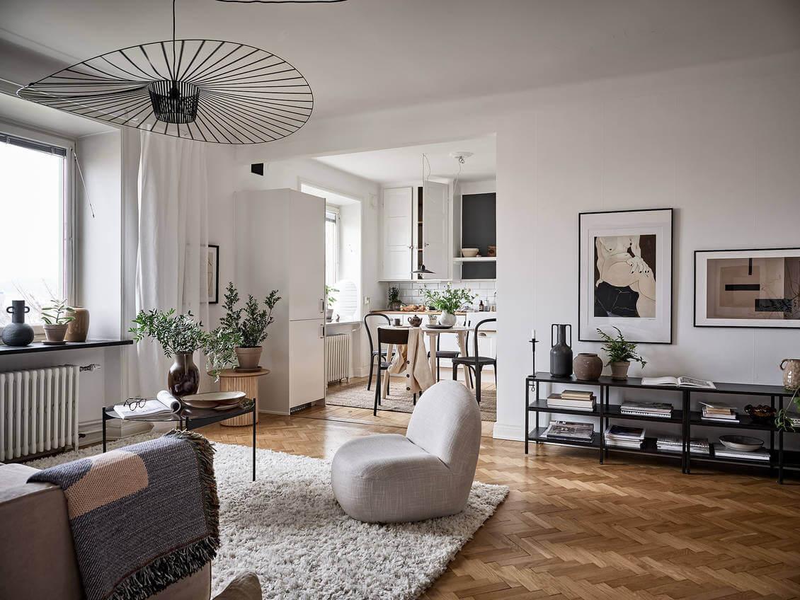 A Charming Scandinavian Apartment With Original Details