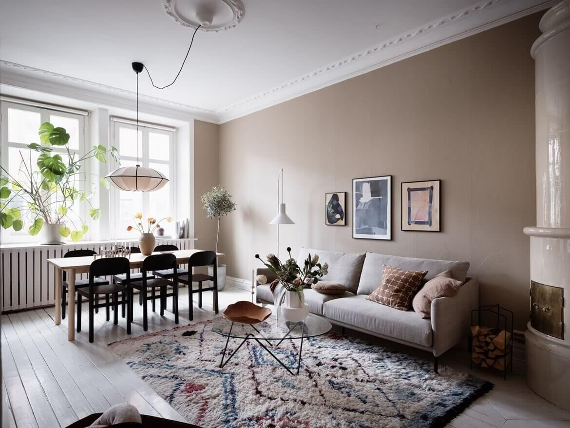 Soft Color Tones in a Stylish Scandi Apartment
