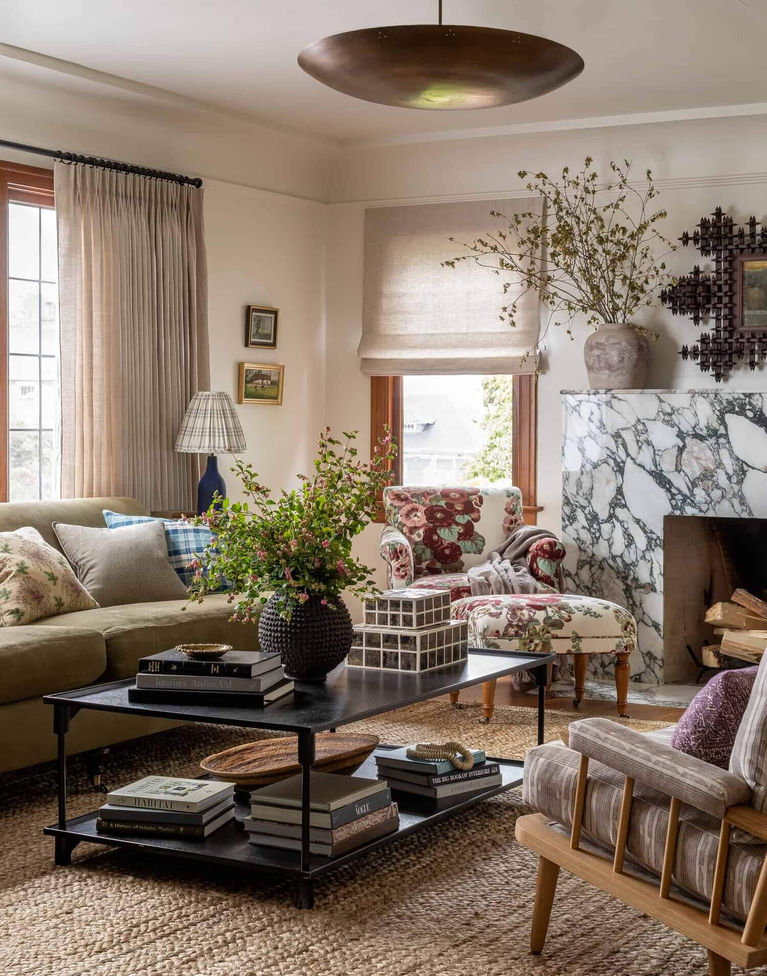 Soothing Colors in Designer Heidi Caillier's Eclectic Washington Home