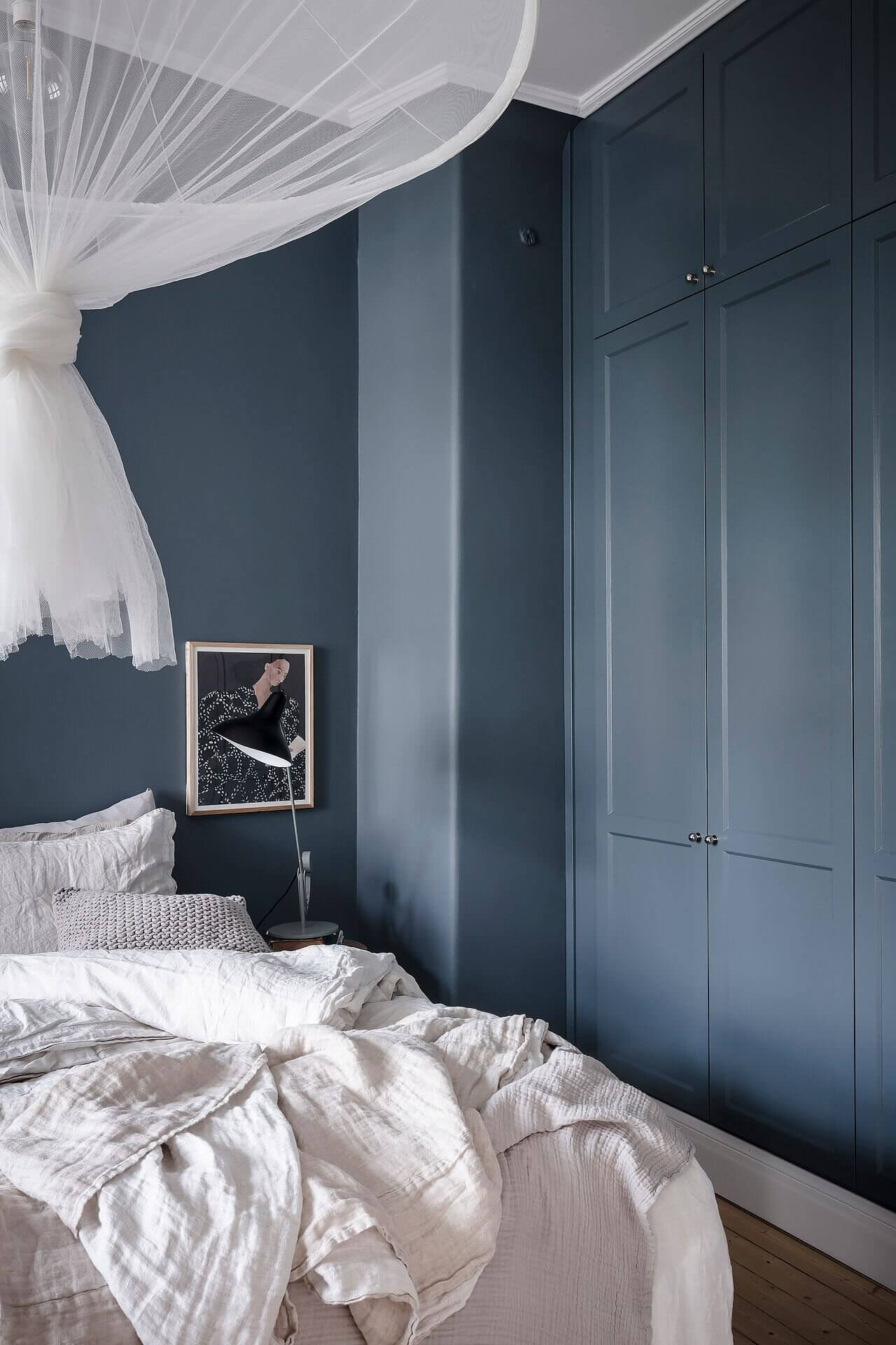 Blue and Grey Tones in a Wonderful Scandinavian Apartment