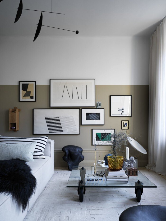 Color Blocking In An Interior Stylist's Stockholm Apartment