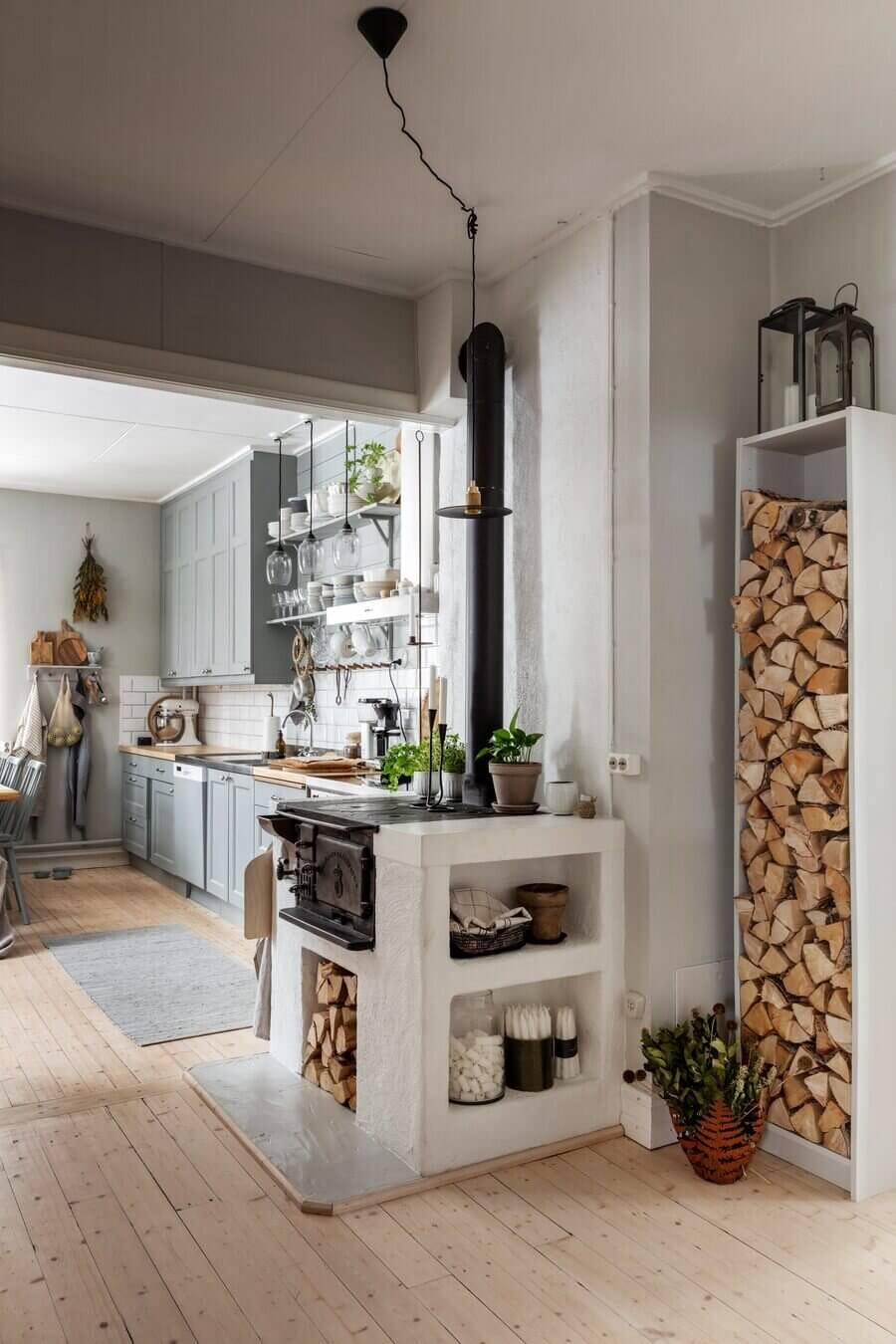 A Serene Vintage Home in Swedish Lapland