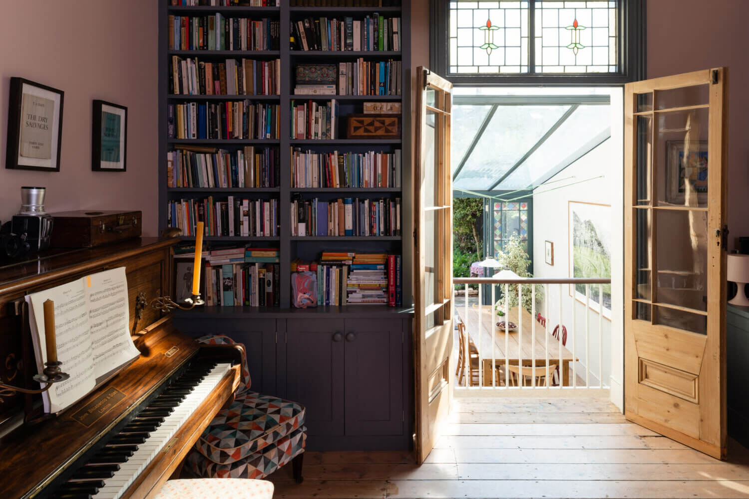 A Victorian Townhouse in London With A Pink Music Room