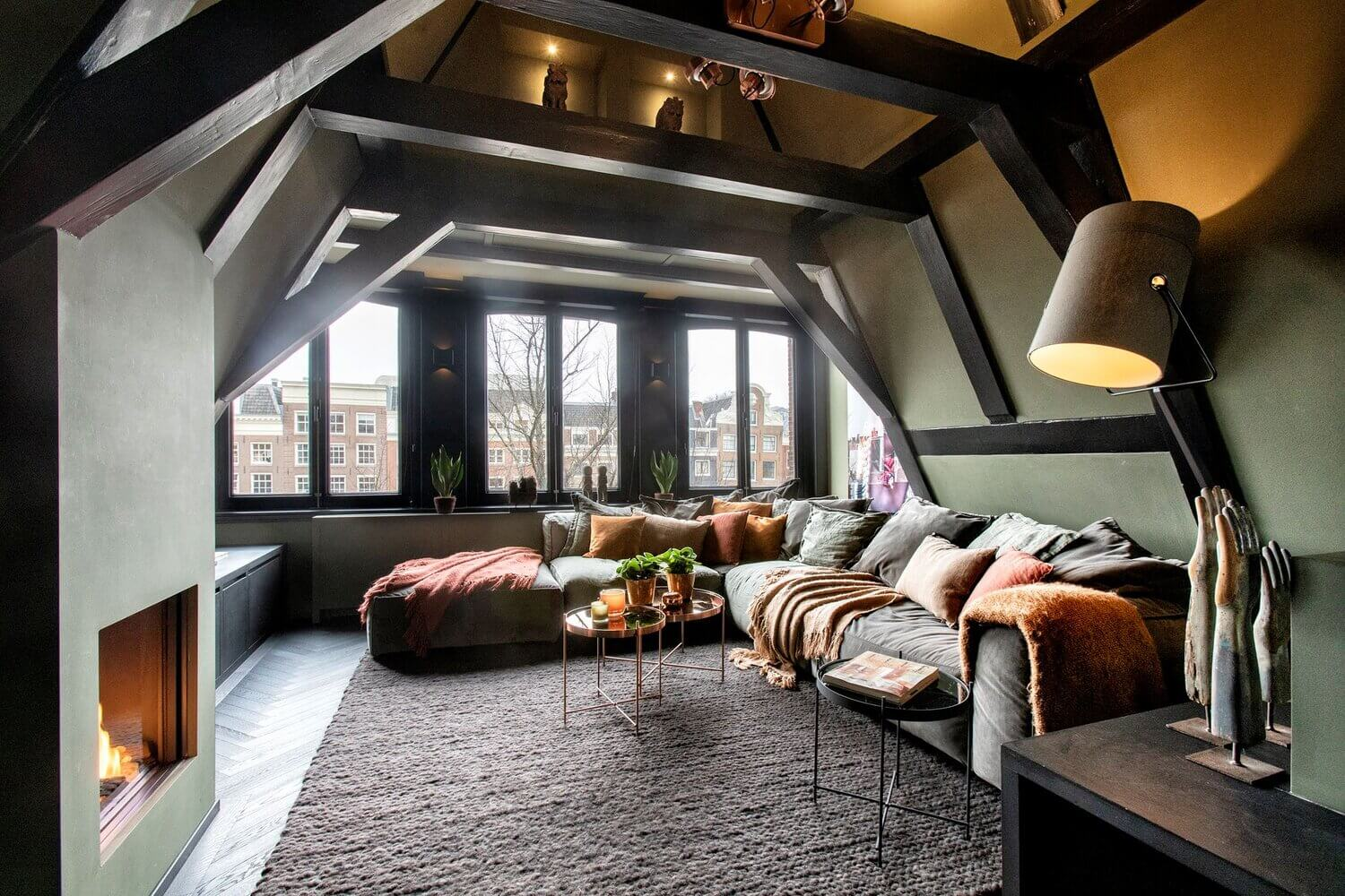 A Moody and Luxurious Attic Apartment in Amsterdam