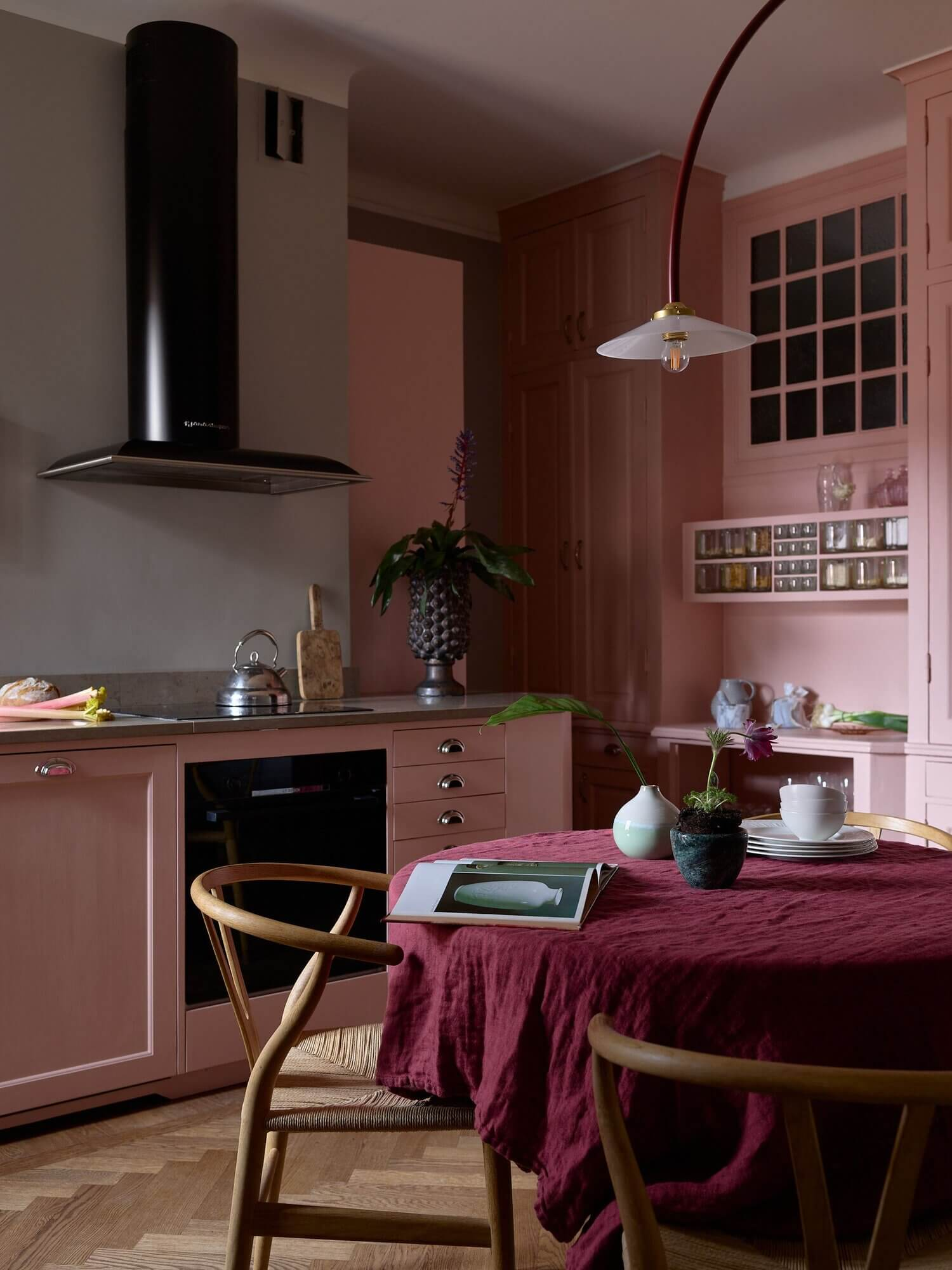 A Pink Kitchen In A Colorful Scandinavian Apartment