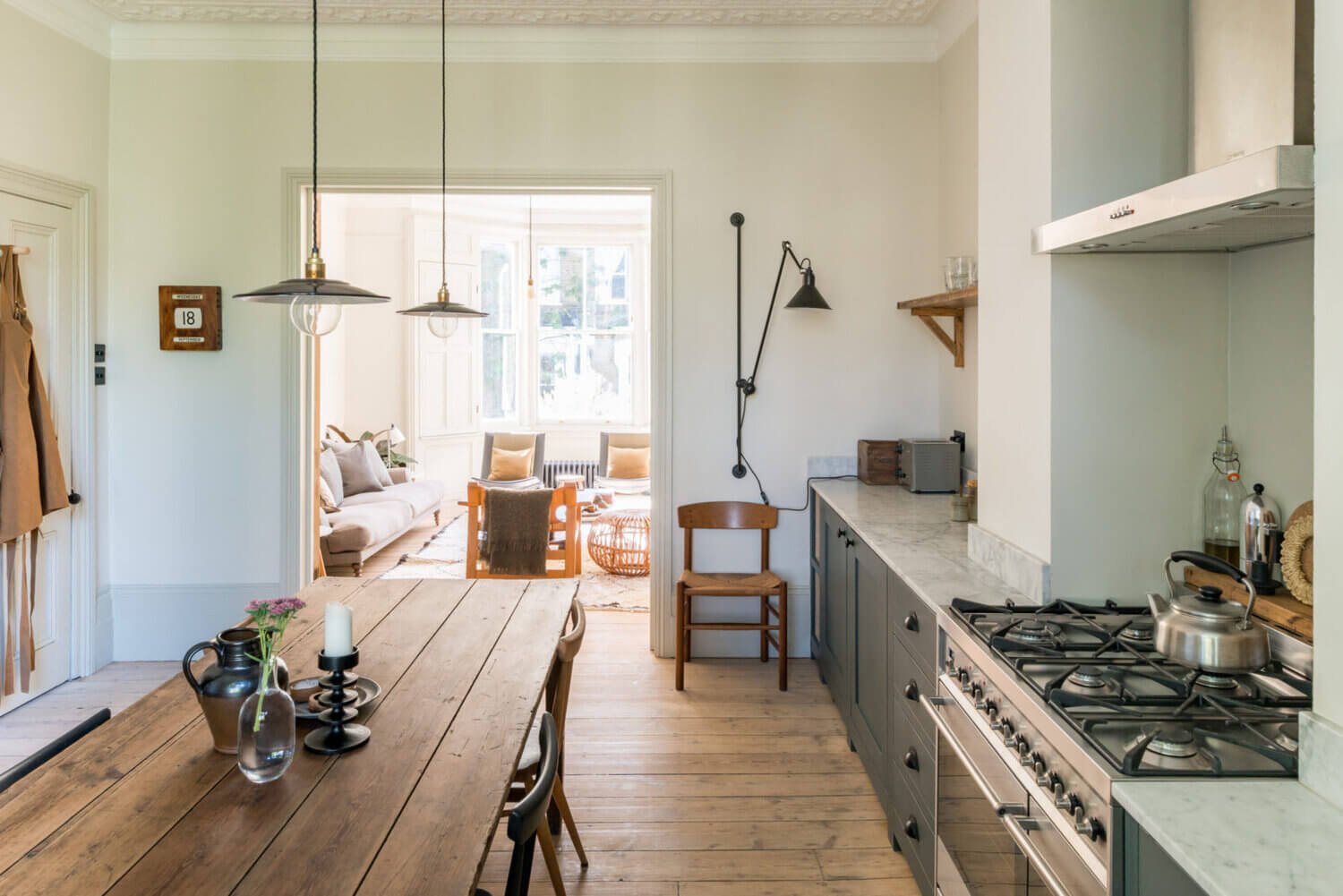 An Elegant Victorian Terrace House with Private Courtyard Garden