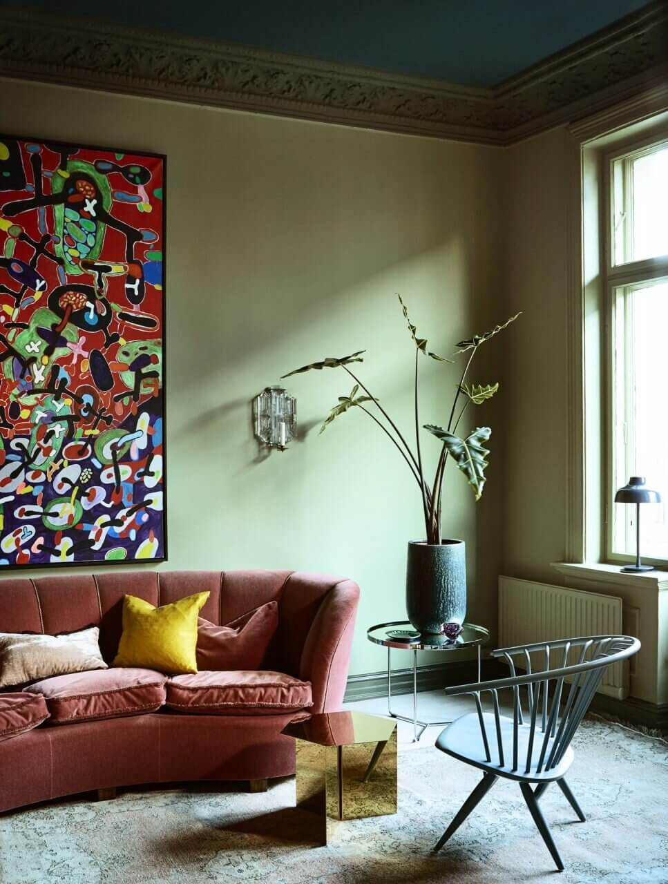 A Historic Apartment with Rich & Vibrant Color Combinations