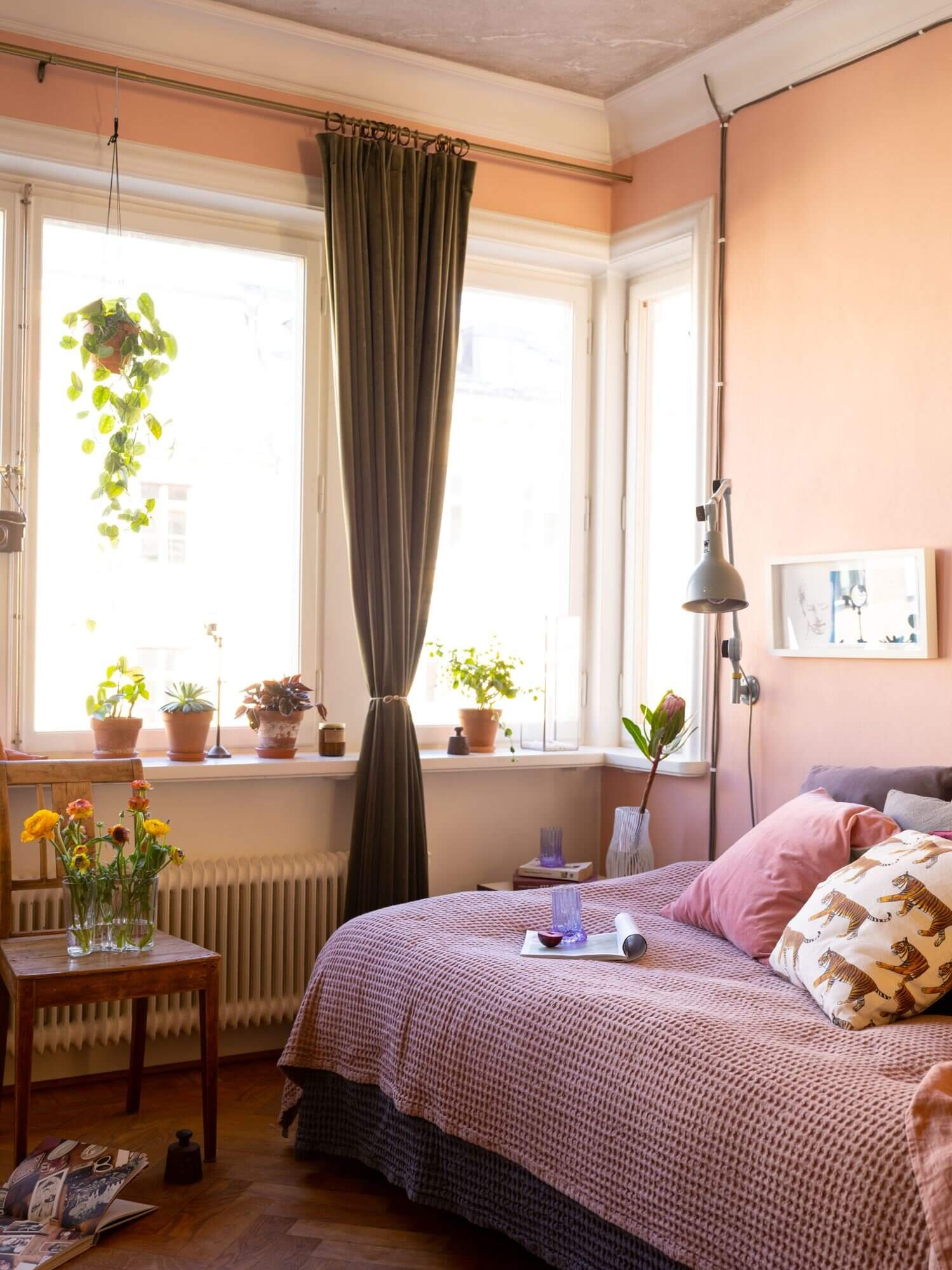 A Pink Studio Apartment Styled Two Ways