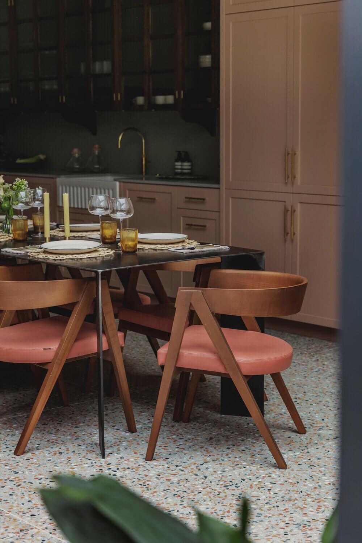 pink-kitchen-terrazzo-floor-midcentury-dining-chair-london-studio-duggan-nordroom