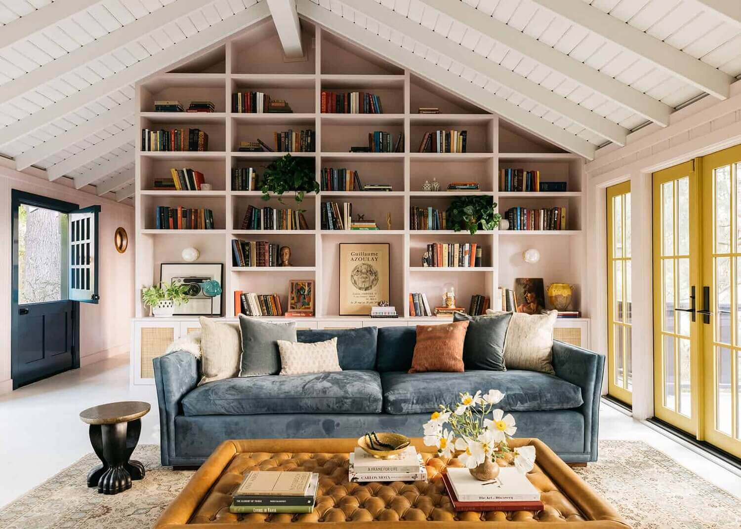 A Pink Living Room in a Mid-Century Home in Los Angeles