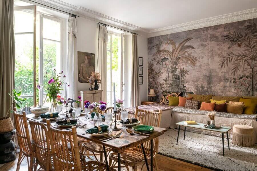 A Small Bohemian Apartment in Paris