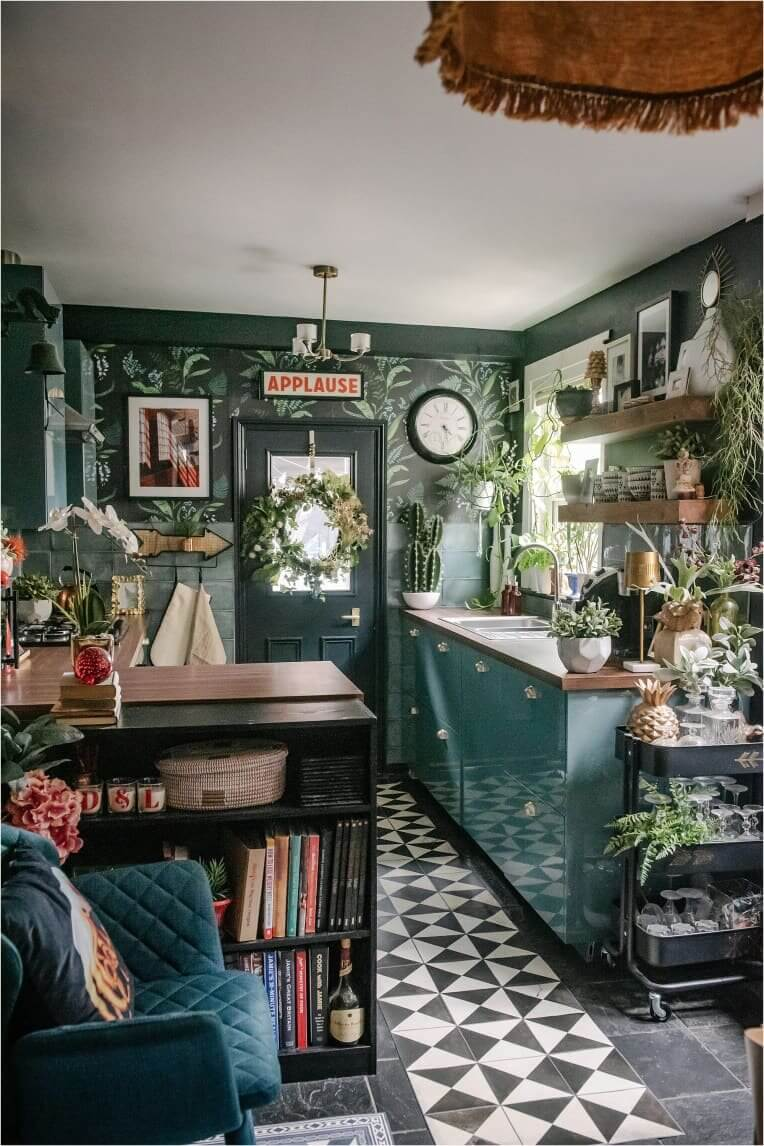 glossy-green-bohemian-kitchen-plants-nordroom