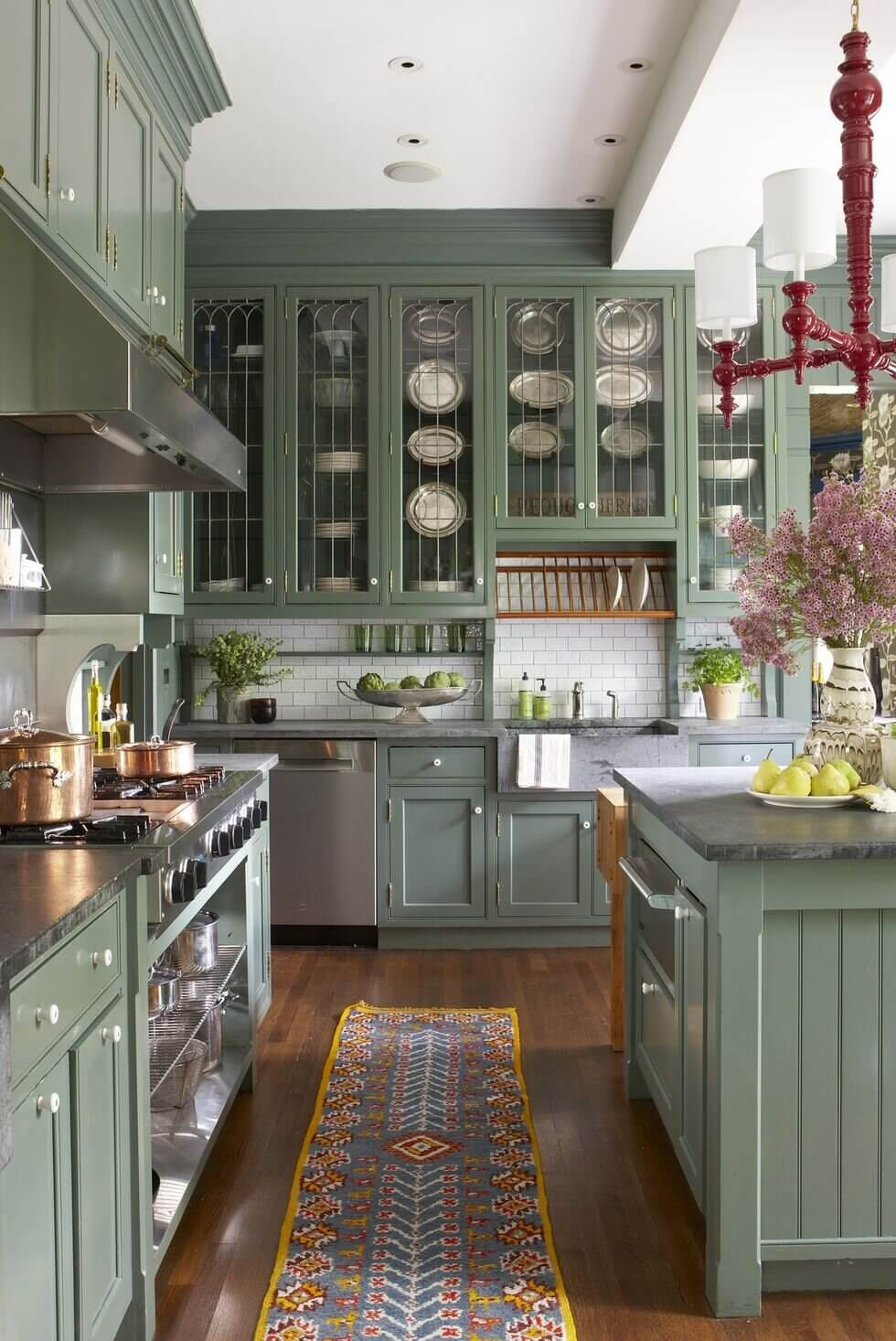 green-kitchen-cabinets-classic-kitchen-nordroom