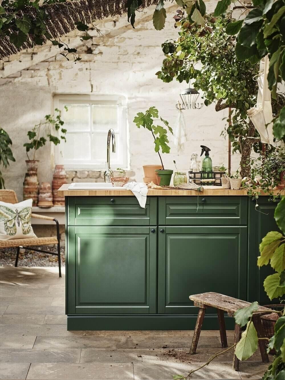 green-kitchen-island-ikea-plants-nordroom