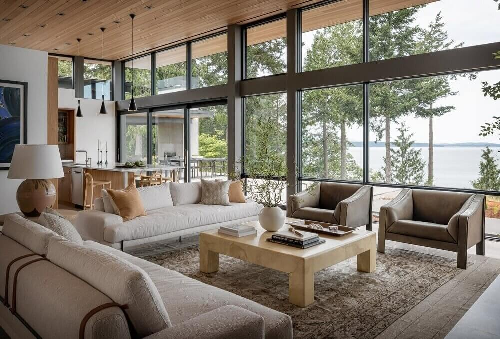 A Neutral Colored Villa With A View on Bellingham Bay