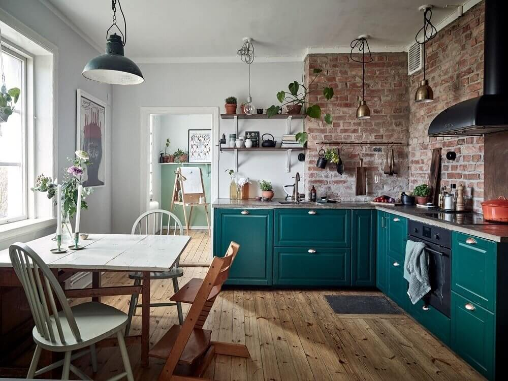 teal-green-kitchen-exposed-brick-wall-nordroom
