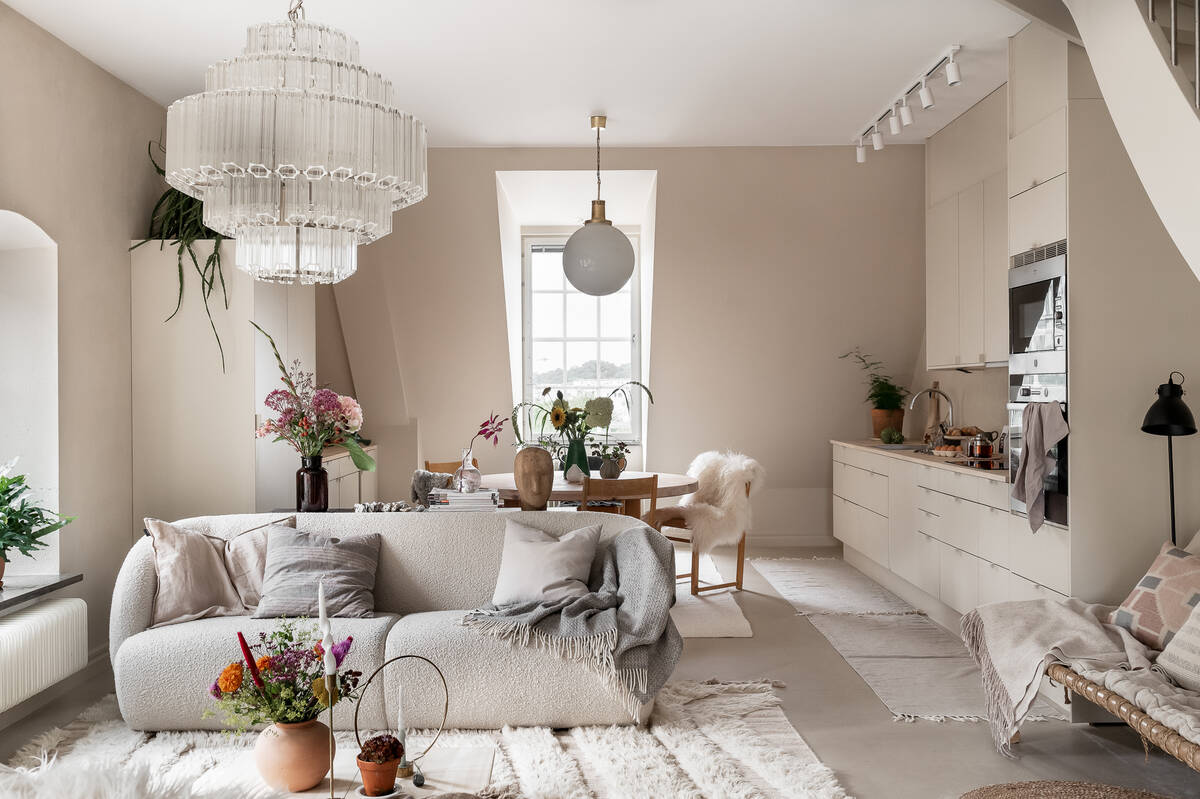 A Stockholm Maisonette Decorated in Warm Neutrals