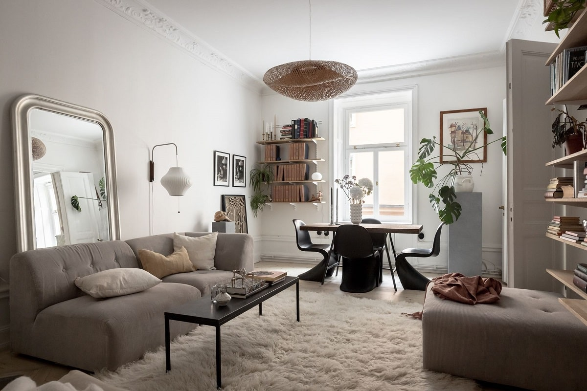 A Bright and Natural Scandinavian Apartment