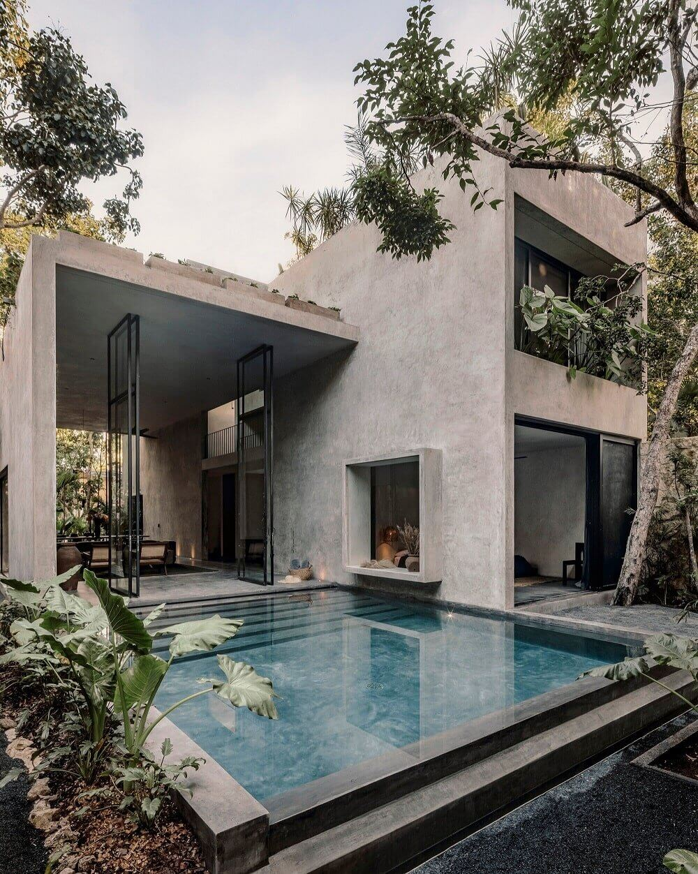 A Modern Architectural Villa in Tulum