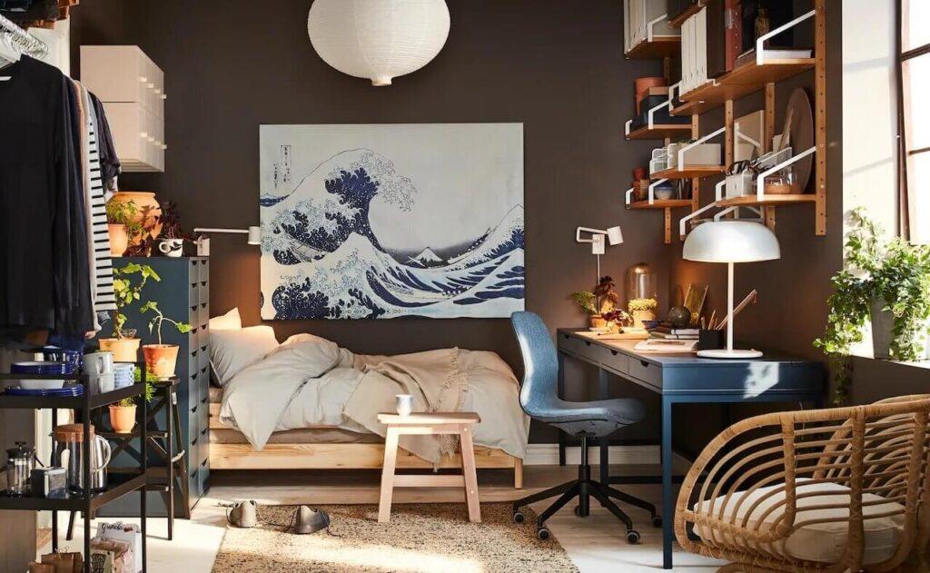 moody-ikea-bedroom-workspace-ikea-catalog-2022-nordroom